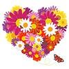 Bunter Hintergrund mit Blumen | Stock Vektrografik