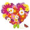Bunter Hintergrund mit Blumen | Stock Illustration