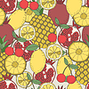 Seamless fruit pattern | Stock Vector Graphics