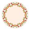 Dekorative runde Gemüse Rahmen auf Hintergrund