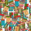 Nahtlose Muster von Geschenk-Pakete, Weihnachtsgeschenke
