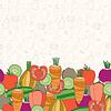 Dekorative Gemüse Hintergrund mit Platz für Text