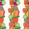 Nahtlose Muster von Gemüse