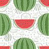 Nahtlose Muster von Wassermelonen