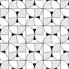 Nahtlose schwarzen und weißen abstrakten dekorative Muster