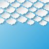 Abstrakt Hintergrund mit Papier Wolken