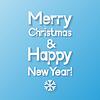 Weihnachten und Neujahr Grußkarte. Vektor-Illustration