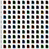 100 Dateitypen Icons in einfachen flachen Stil für grafische Web-Design