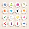 16 Grundzeichen icon set 05 (Farbe weiß)