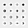 hexagon16 Pfeil-Zeichen-Icon-Set 01