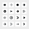 abgerundeten square16 Pfeilzeichen icon set 01