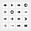 abgerundeten square16 Pfeilzeichen icon set 02