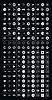 200 Pfeil-Zeichen-Icon-Set (weiß in schwarz)