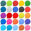 25 Sprechblase Zeichen web icon Kreisform