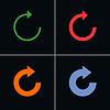 4 Pfeilzeichen reload Dreh Aktualisierung zurückSet Piktogramm