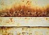 Kwitnienie rdzy na płycie żelaza | Stock Foto