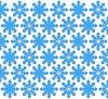 Blaue Schneeflocken | Stock Illustration