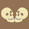 Scull Spaß-Cartoon-Halloween-Design-Element