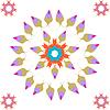 Satz von floralen Spitze bunten ethnischen Ornament