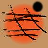 Abstrakcyjne tło w stylu japońskim | Stock Vector Graphics