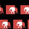 Streszczenie szwu z nowoczesnych słoni | Stock Vector Graphics