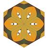 Streszczenie tle, składający się żółty, brązowy | Stock Vector Graphics