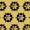 Streszczenie tle, składający się żółty, brązowy, czarny | Stock Vector Graphics