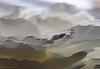 Streszczenie fantastyczne szary krajobraz | Stock Vector Graphics