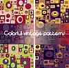Set von 4 abstrakten geometrischen nahtlose Muster