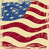 Amerikanische Grunge-Flag. Grunge-Effekt kann gereinigt werden