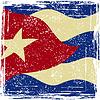 Cuba Grunge-Flag. Grunge-Effekt kann gereinigt werden