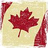 Canadian Grunge-Flag. Grunge-Effekt kann gereinigt werden