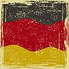 Deutschland-Grunge-Kennzeichen. Grunge-Effekt kann gereinigt werden