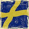Schwedisch-Grunge-Kennzeichen. Grunge-Effekt kann gereinigt werden