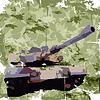 Armee Hintergrund mit Tank. Kleidung Drucken