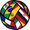 Football Fußball Flaggen gemacht