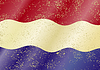 Niederländische Schmutzflagge. Grunge-Effekt kann gereinigt werden