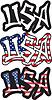 USA Wort Graffiti-Stil.