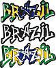 Brasilien Wort Graffiti anderen Stil