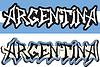 Argentinien Wort Graffiti anderen Stil