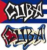Kuba Wort Graffiti anderen Stil