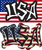 USA Wort Graffiti anderen Stil