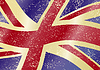 Britischen Grunge-Flag. Grunge-Effekt kann gereinigt werden