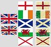 Großbritannien-Flags. Grunge-Effekt kann gereinigt werden