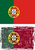 Portugiesisch-Grunge-Kennzeichen