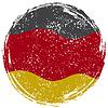 Deutschlands Grunge-Flagge