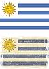Uruguayischen Grunge-Flag