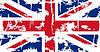 Britischen Grunge-Flag