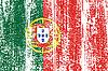 Portugiesisch-Grunge-Kennzeichen.