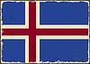 Icelandic Grunge-Flag